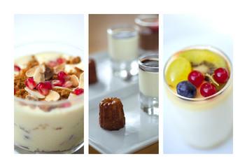 Yaourt, crème, dessert, tiramisu, laitage, cannelé, sucré, sucre