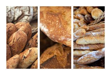 Pain, pain de campagne, baguette, boulanger, boulangerie, mie