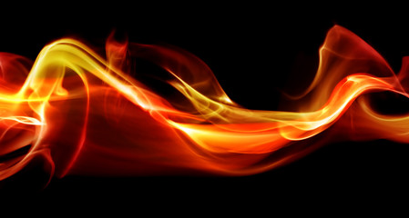 Flame abstract