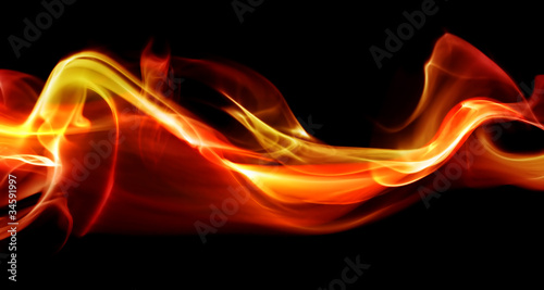 Leinwandbild Motiv Flame abstract