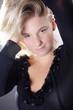 Natürliche Frau verspielt, close Up Portrait
