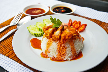 Crispy Pork with Rice