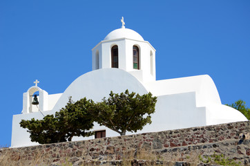 Kapelle in Imerovigli - Santorin - Griechenland