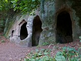 Cave. An ancient hermitage cave dwelling. poster