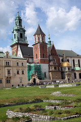The cathedral on Wawel hill, Krakow