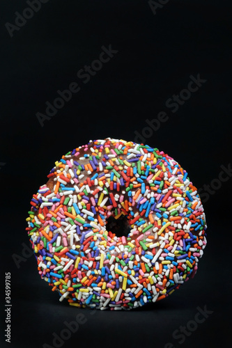 Sprinkled Rainbow Doughnut.