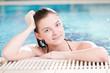 Beauty woman in swimming pool