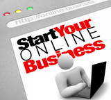 Website - Start Your Online Business Instructions to Lauch Site poster