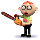3d Zombie has a bloody chainsaw, oh dear.