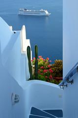 Treppe in Imerovigli - Santorin - Griechenland