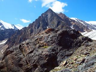 Glaciers Aktru, mountain Altai