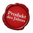 siegel produkt des jahres button rot auszeichnung