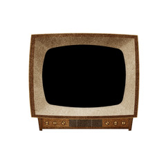 Television ( TV )  Blank screen icon recycled paper craft
