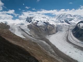 Glaciers depuis le Gornergrat