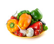Healthy Eating. Fresh Vegetables. Isolated on white background