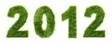 3d new year 2012 background - ecology concept