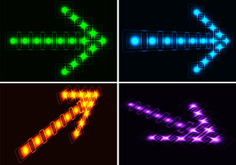 Glowing set arrows