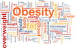 Obesity fat background concept