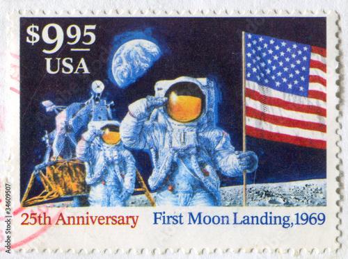 Leinwanddruck Bild Moon Landing