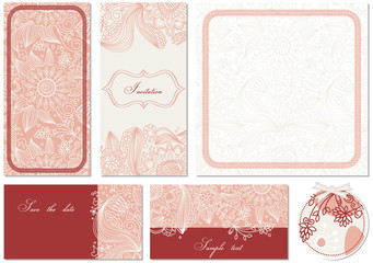 Stylish floral cards