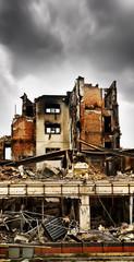 Fire damaged building