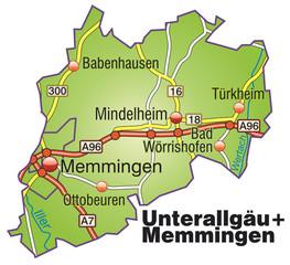 Landkreise Unterallgäu + Memmingen Variante1