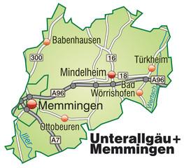 Landkreise Unterallgäu + Memmingen Variante2