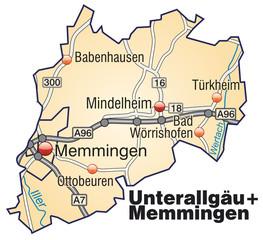Landkreise Unterallgäu + Memmingen Variante3