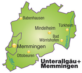 Landkreise Unterallgäu + Memmingen Variante4