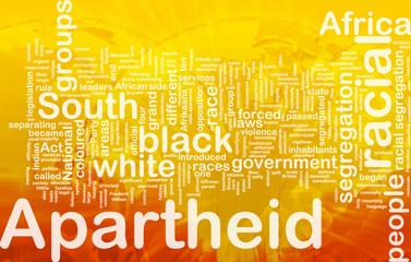 Apartheid background concept