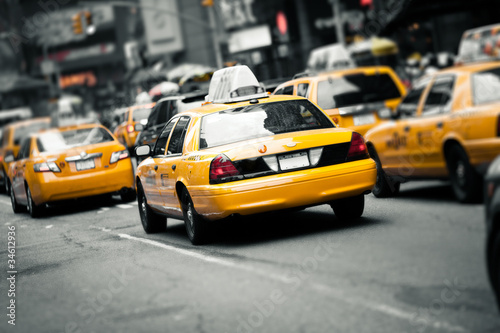Fototapety, obrazy : New York taxis