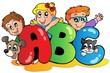 School theme with ABC leters