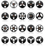 Analog Stereo Tape Reels Icon set, Vector