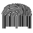 finger print with barcode