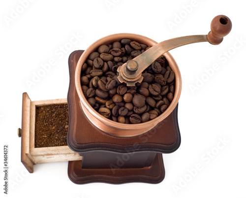 coffee mill with open box top view