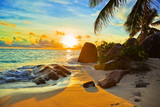Fototapety Tropical beach at sunset