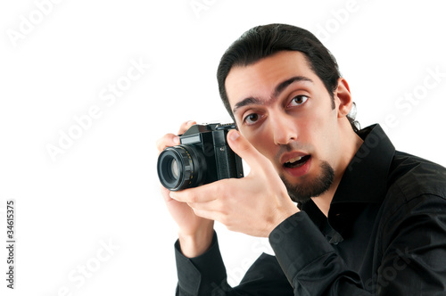Photographer with the digital camera