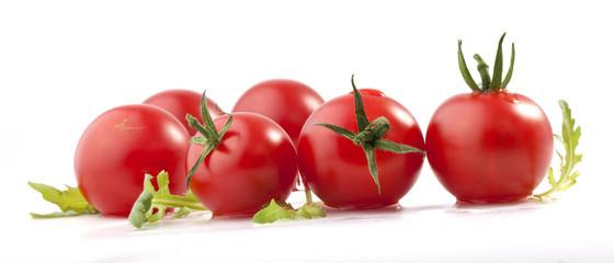 Tomatos and ruccola (arugula)