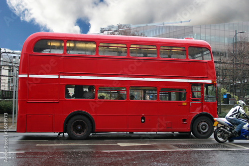 Foto op Aluminium Londen rode bus London Bus