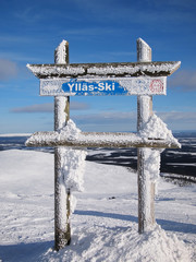 Skiing area of Ylläs
