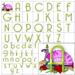 ABC Alphabet background bellerose green design