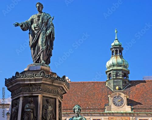 Monument with Emperor Franz I (Hofburg,Vienna)