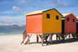 Colorful beach cabins