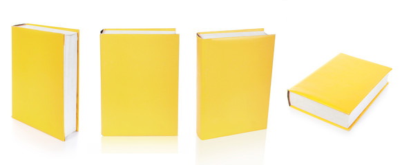 Empty books cover isolated on the white background