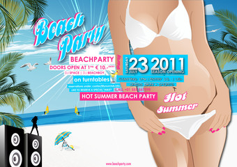 Beachparty Flyer