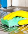 Hand with sponge
