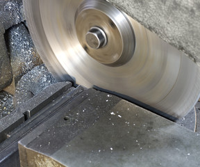 circular saw in close up
