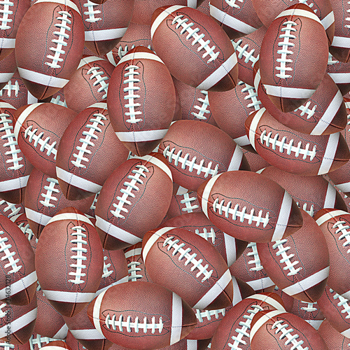 Footballs Seamless Texture Tile from Photographic Original