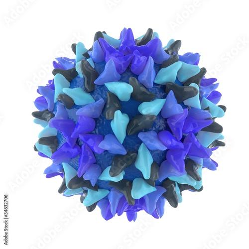 hepatitis B virus isolated on white