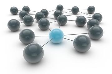 Abstrakt Netzwerk